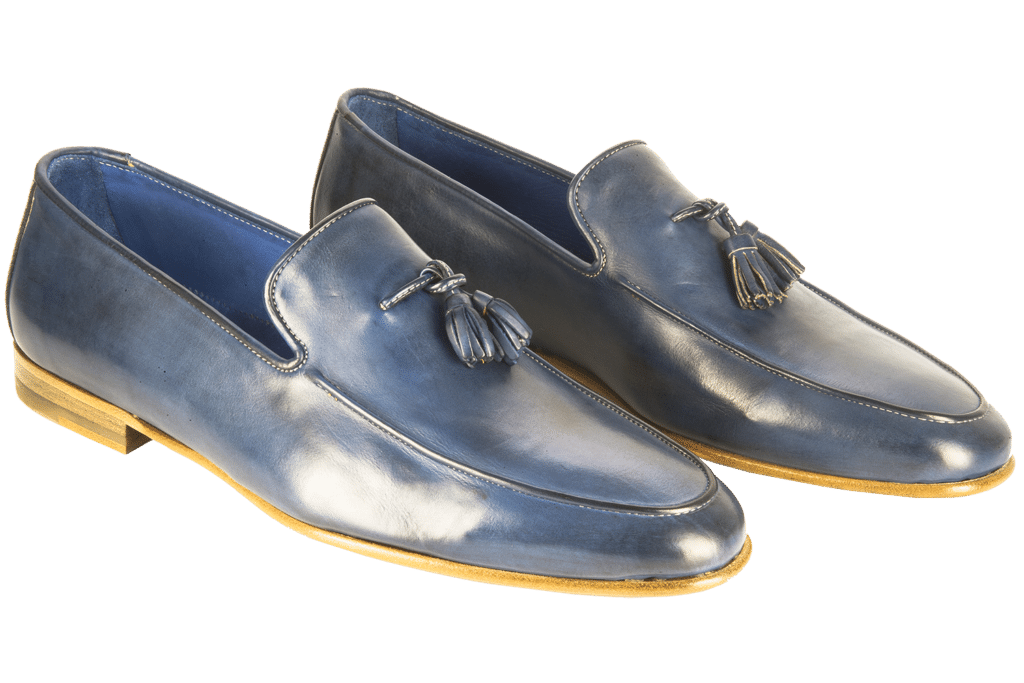 Stone wash loafer