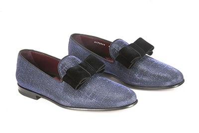 Pantofola in tessuto cangiante