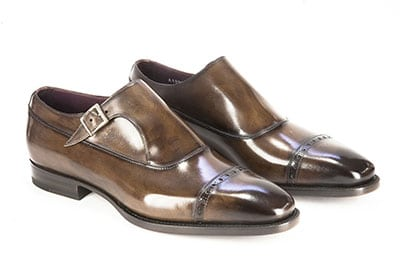 Cap toe single monk