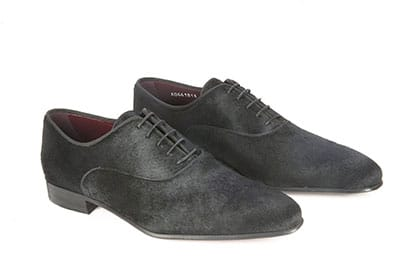 Pony hair oxford shoe