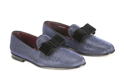 Loafer made with iridescent fabric