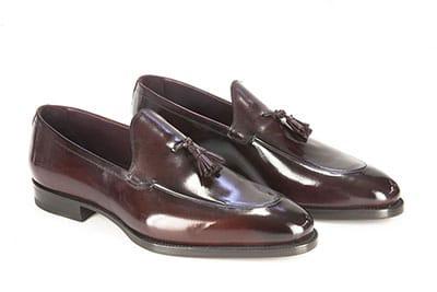Pantofola con la cucitura rigirata