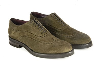 Francesina Full Brogue in camoscio